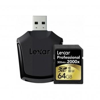 LEXAR SDXC 64GB 2000X UHS-2...