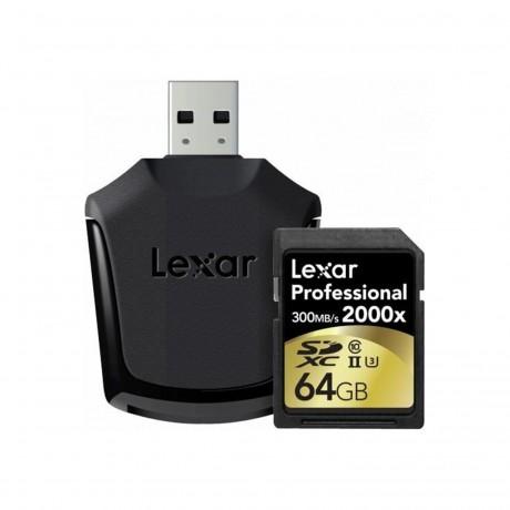 LEXAR SDXC 128GB 2000X UHS-2 + Adaptateur